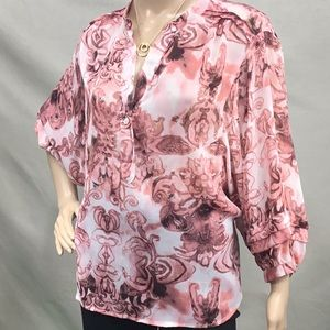 Pintuck Pink Blouse